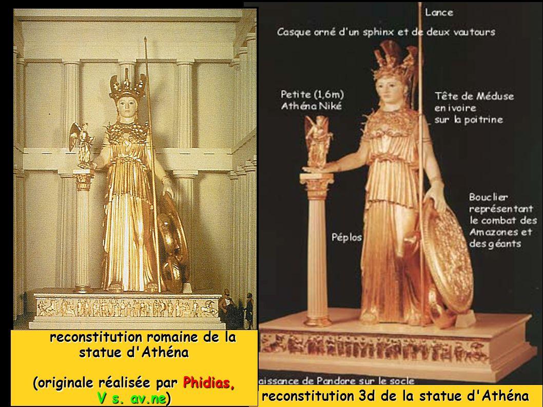 reconstitution romaine de la statue d Athéna