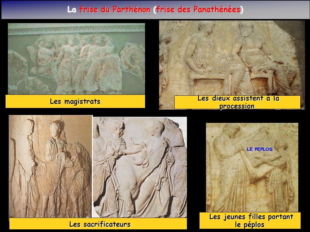 Les sacrificateurs La frise du Parthénon (frise des Panathénées)