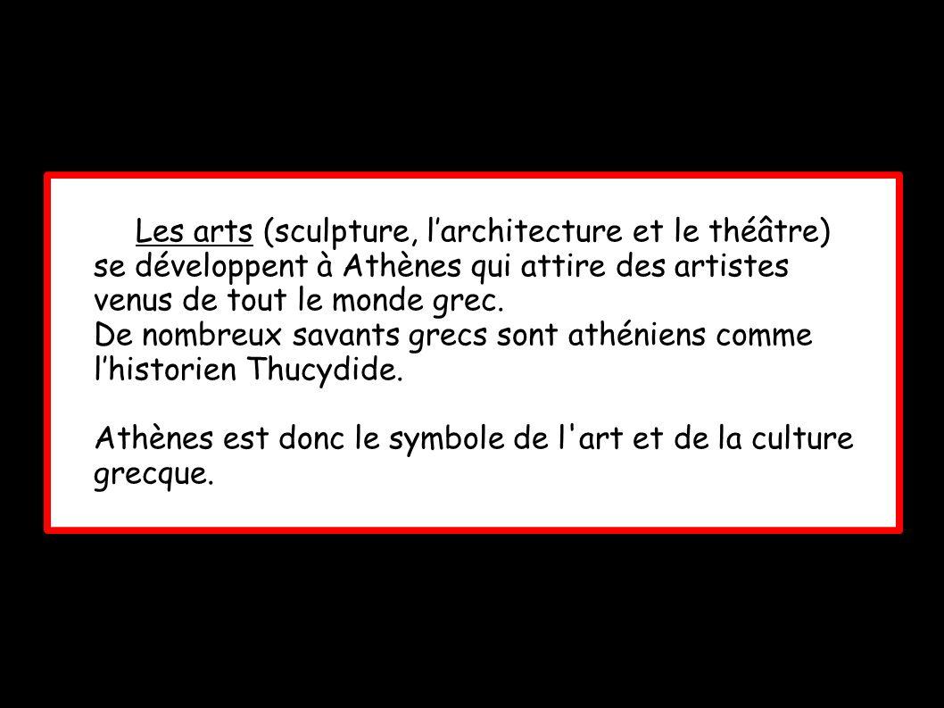 Les arts (sculpture, l'architecture et le théâtre)