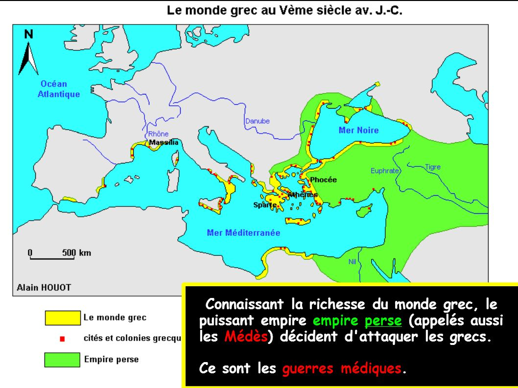 Connaissant la richesse du monde grec, le puissant empire empire perse (appelés aussi