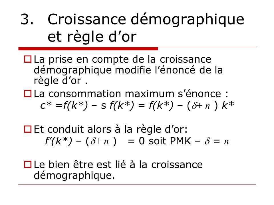 3. Croissance démographique et règle d'or