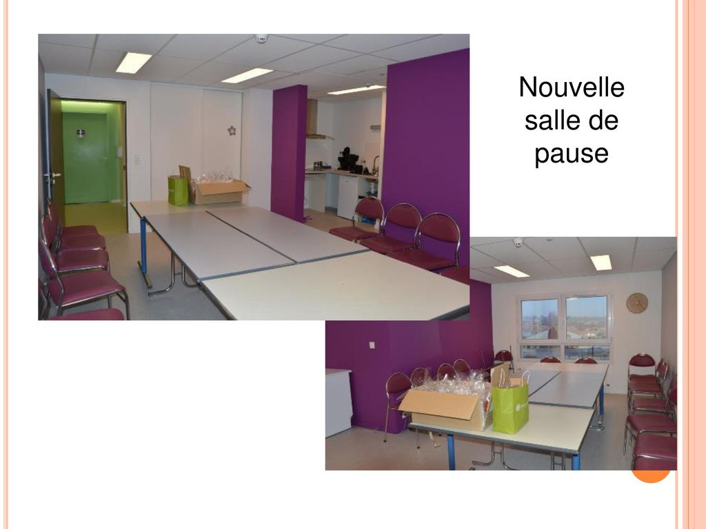 Mobilier moss of salle de pause for Salle de pause