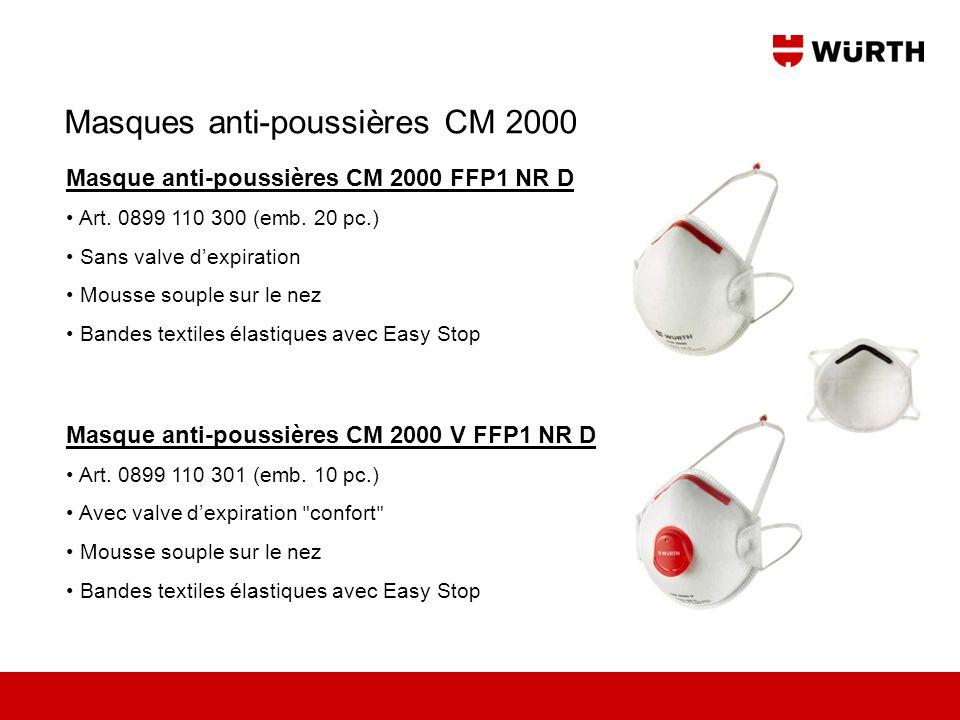 Masques anti-poussières CM 2000