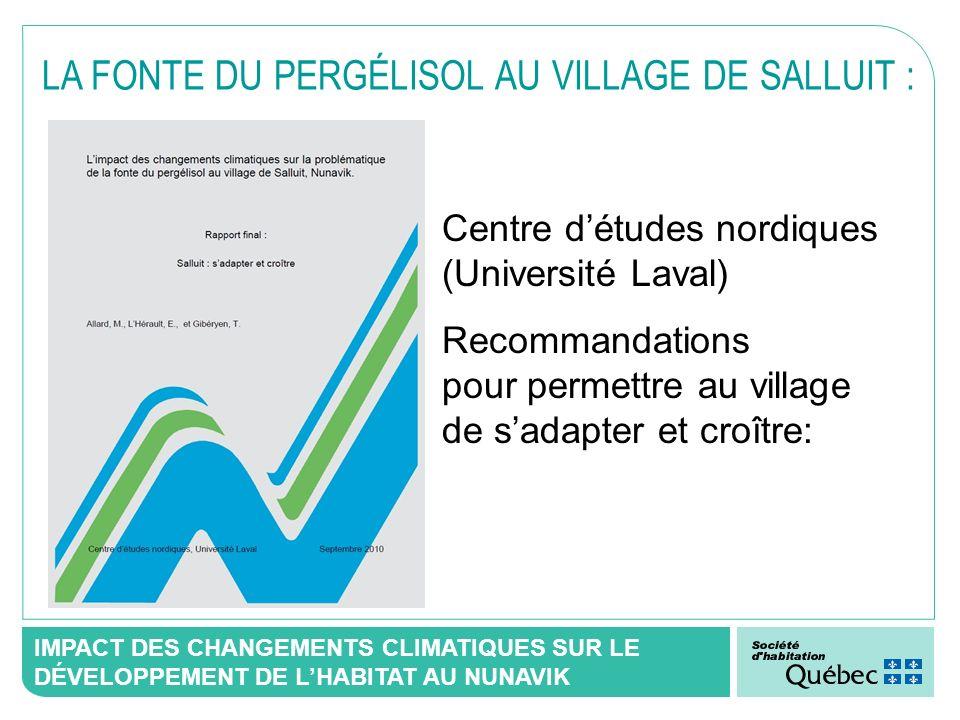LA FONTE DU PERGÉLISOL AU VILLAGE DE SALLUIT :