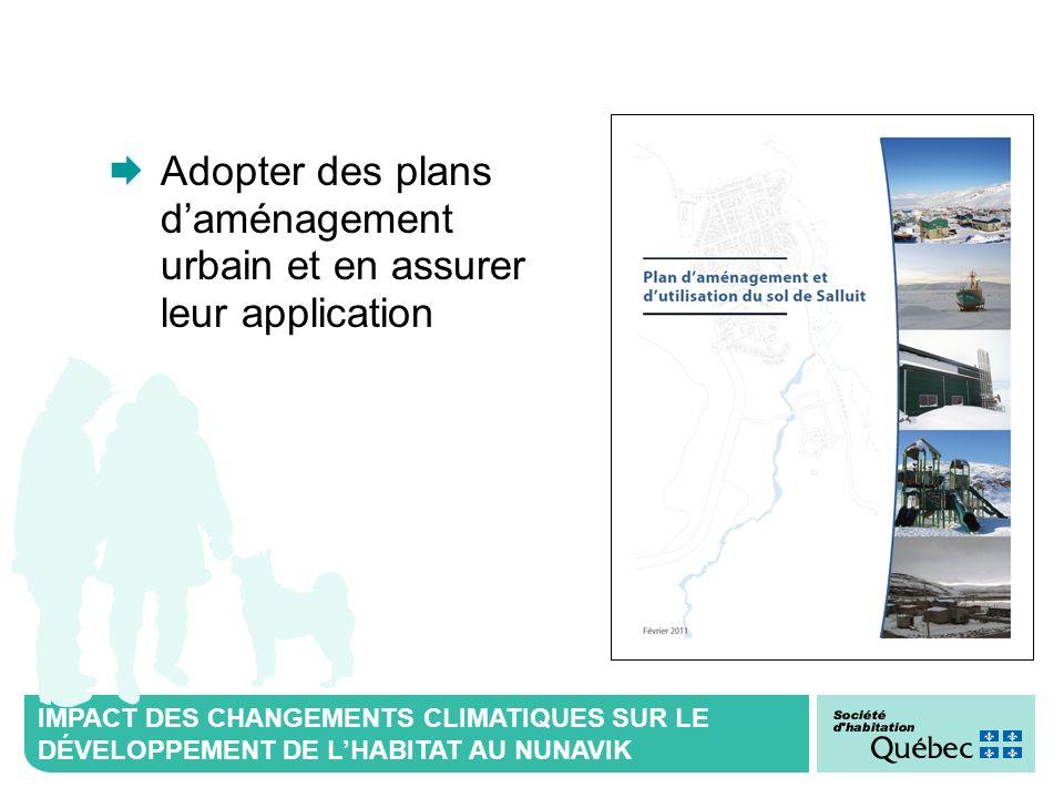 Adopter des plans d'aménagement urbain et en assurer leur application