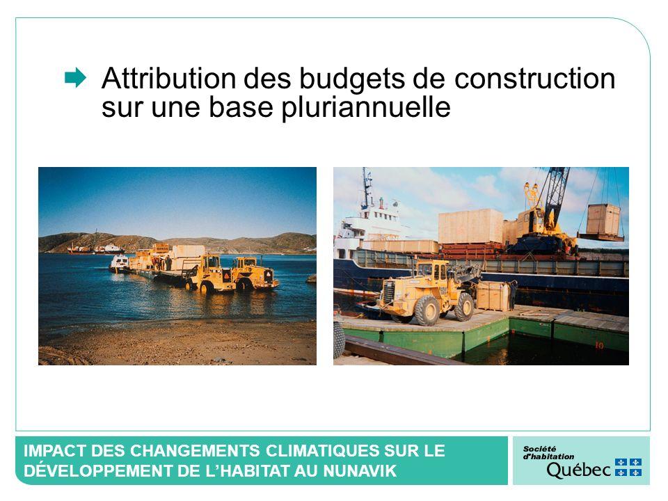Attribution des budgets de construction sur une base pluriannuelle