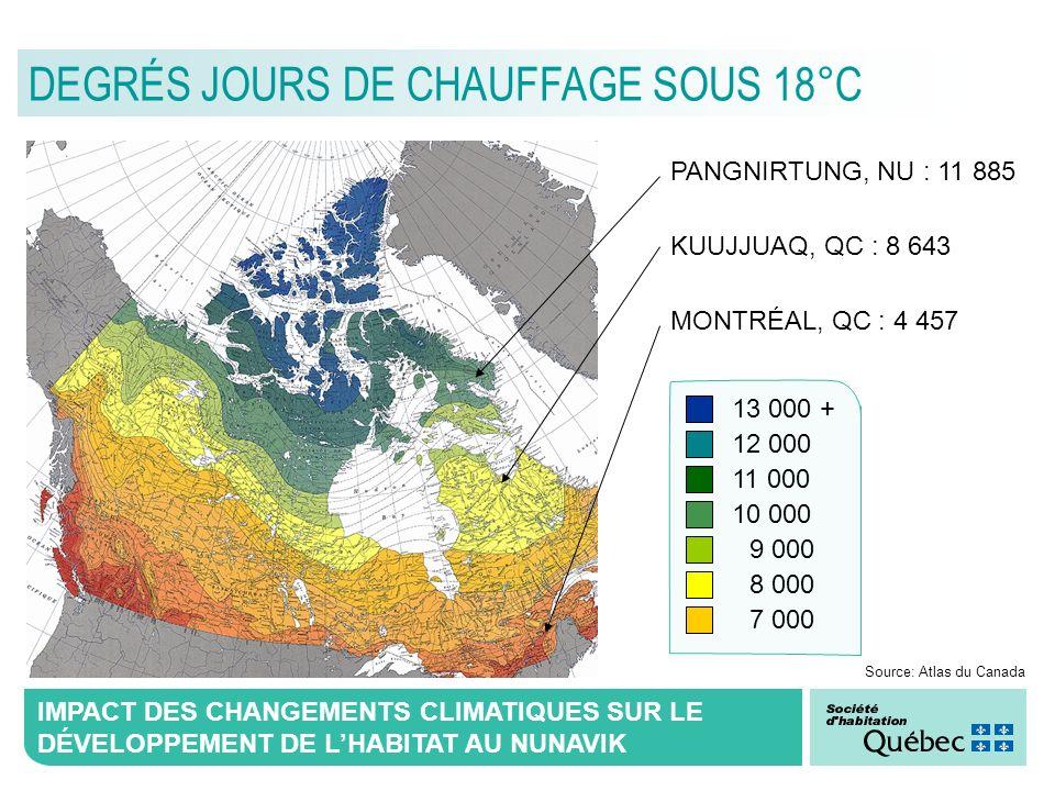 DEGRÉS JOURS DE CHAUFFAGE SOUS 18°C
