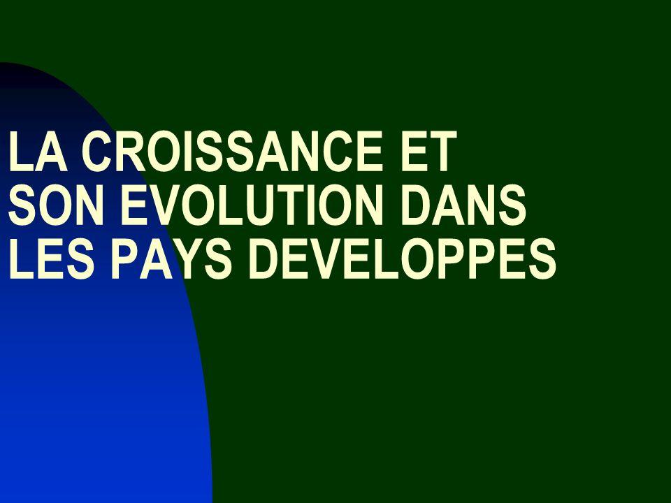 LA CROISSANCE ET SON EVOLUTION DANS LES PAYS DEVELOPPES