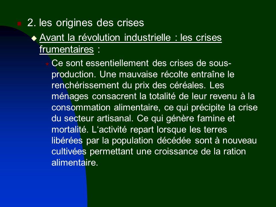 2. les origines des crises