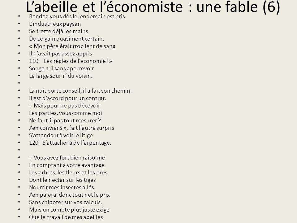 L'abeille et l'économiste : une fable (6)