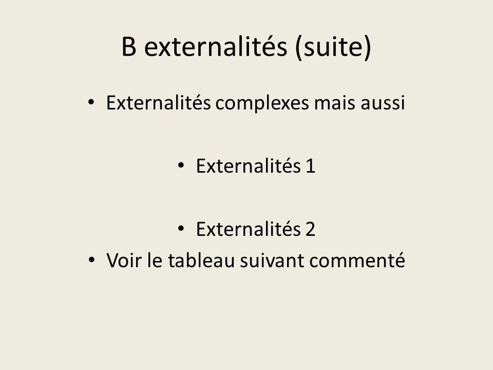 B externalités (suite)