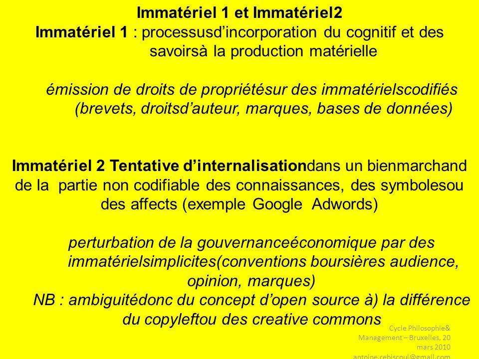 Immatériel 1 et Immatériel2