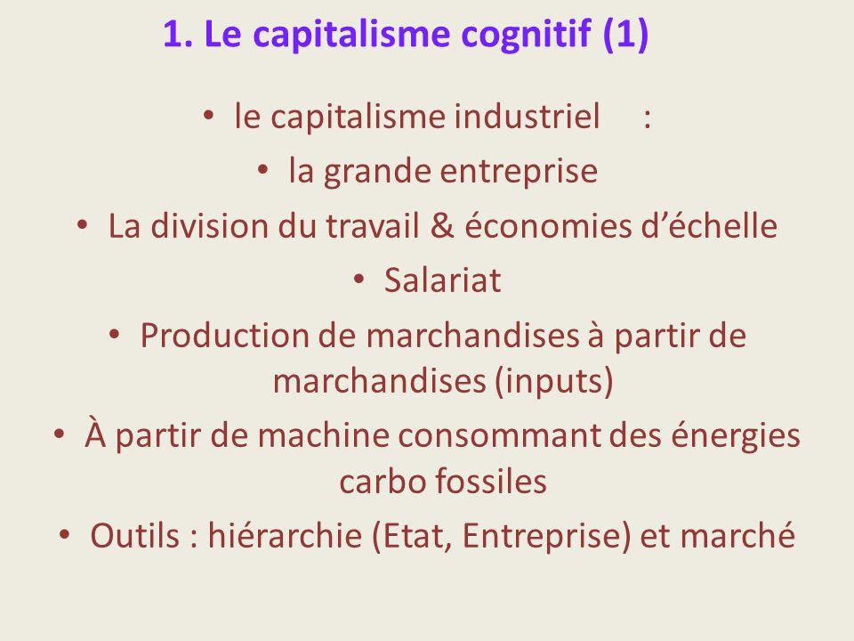 1. Le capitalisme cognitif (1)