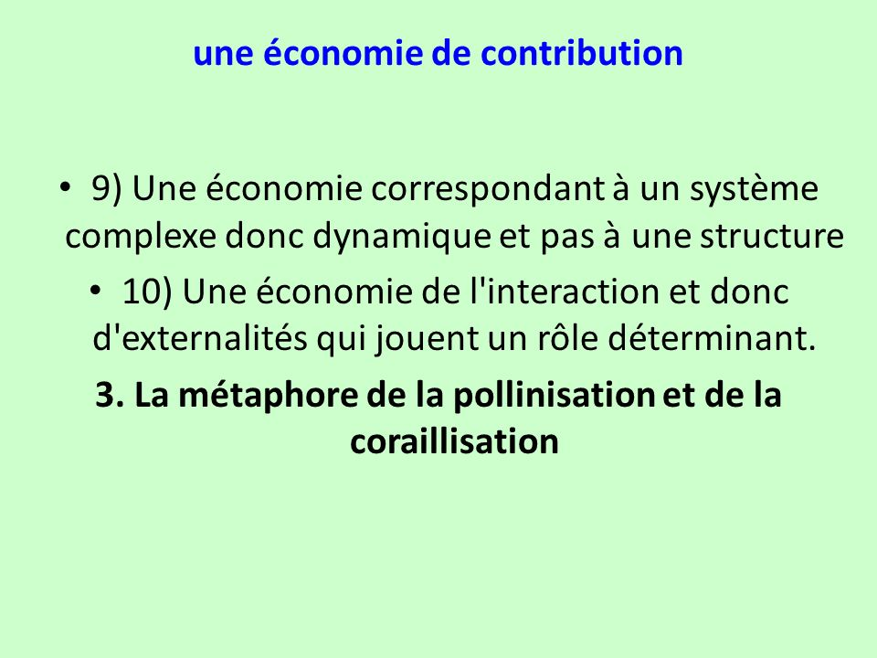 une économie de contribution