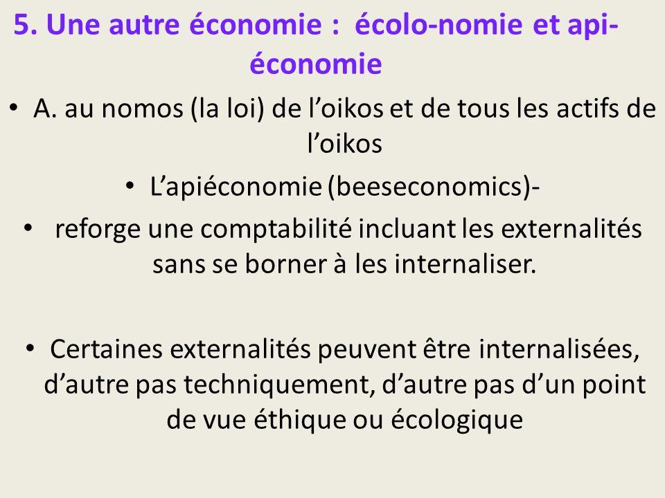 5. Une autre économie : écolo-nomie et api-économie