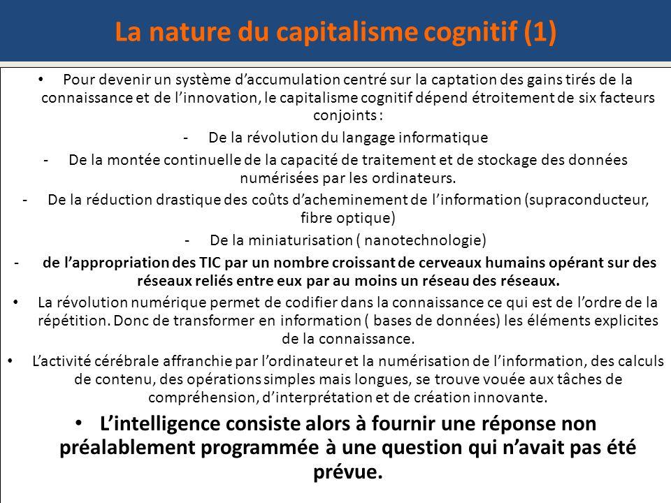 La nature du capitalisme cognitif (1)