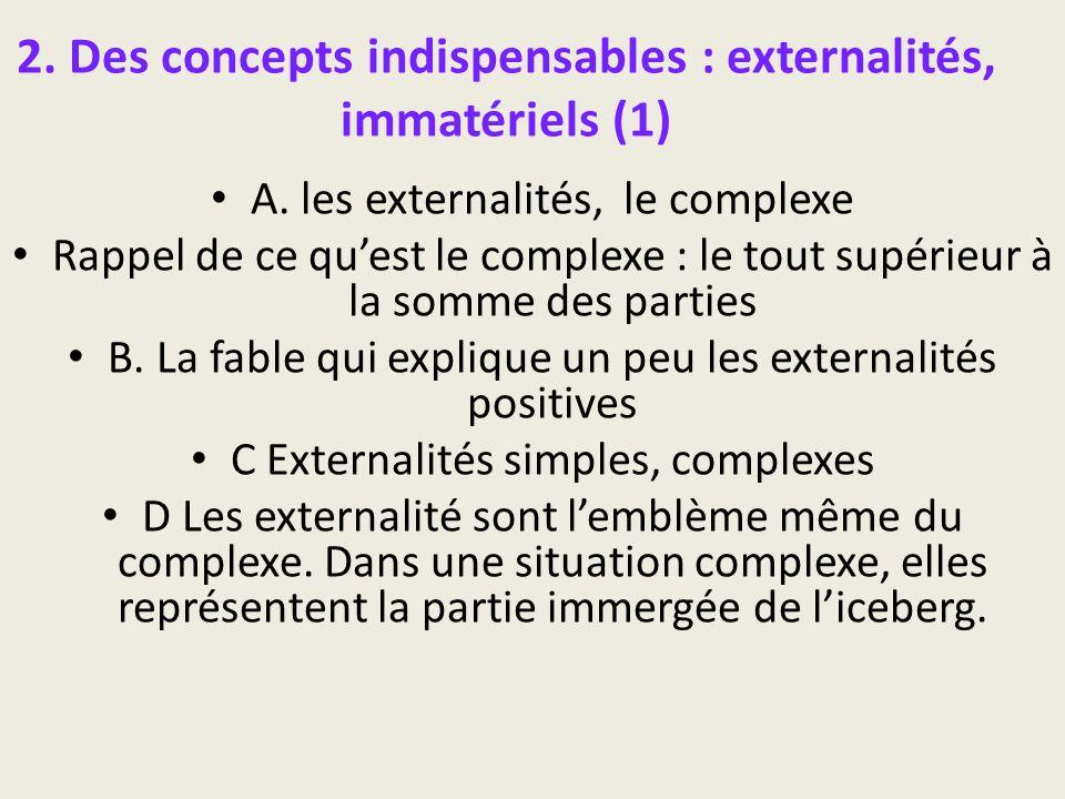 2. Des concepts indispensables : externalités, immatériels (1)