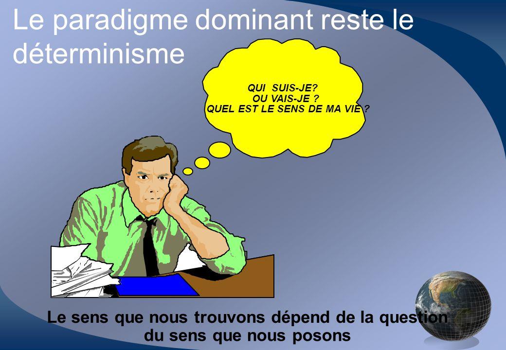 Le paradigme dominant reste le déterminisme