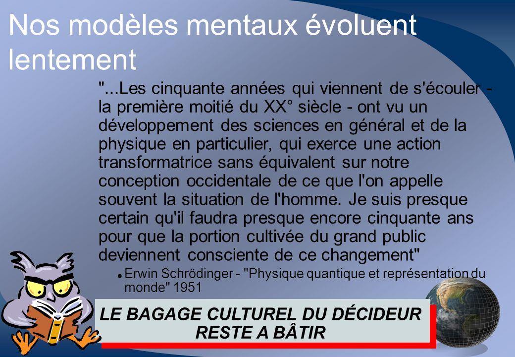 Nos modèles mentaux évoluent lentement