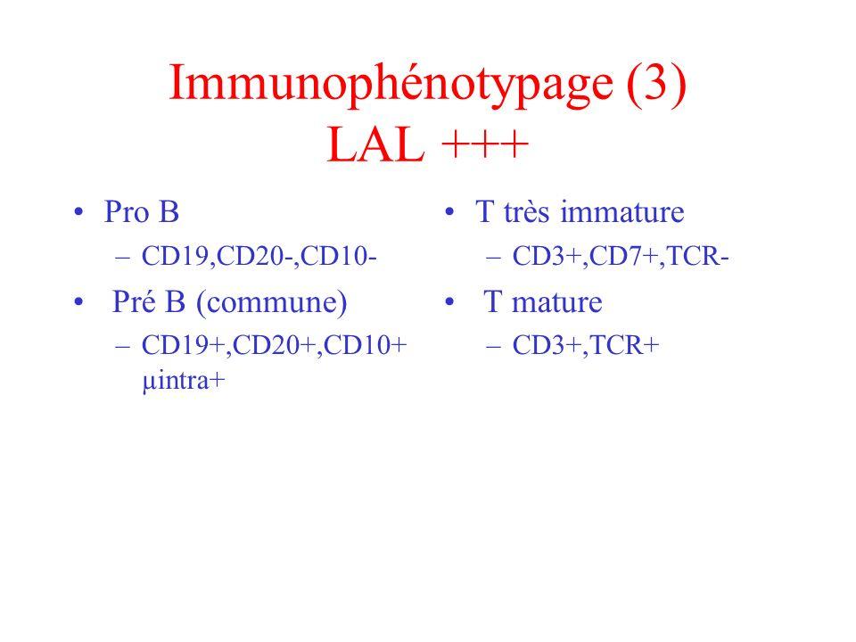 Immunophénotypage (3) LAL +++