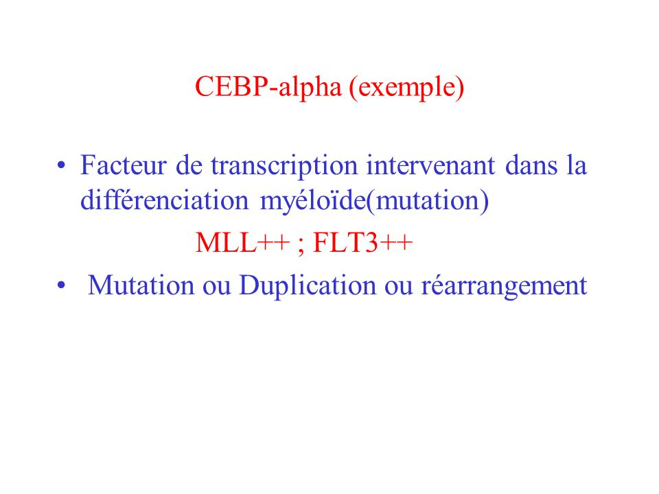 CEBP-alpha (exemple)