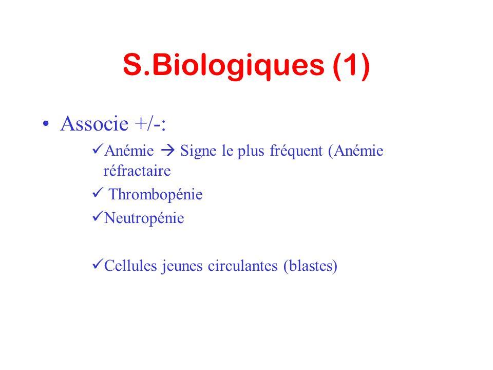 S.Biologiques (1) Associe +/-: