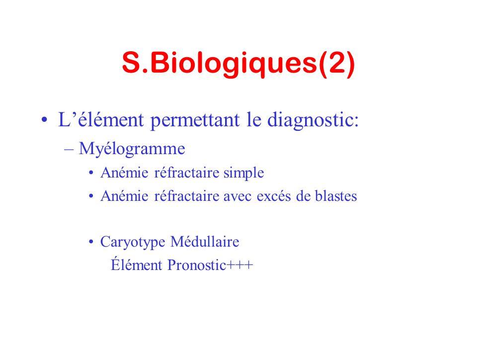 S.Biologiques(2) L'élément permettant le diagnostic: Myélogramme