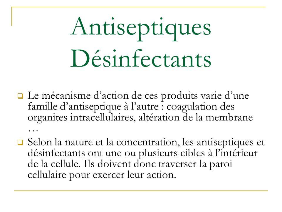 Antiseptiques Désinfectants