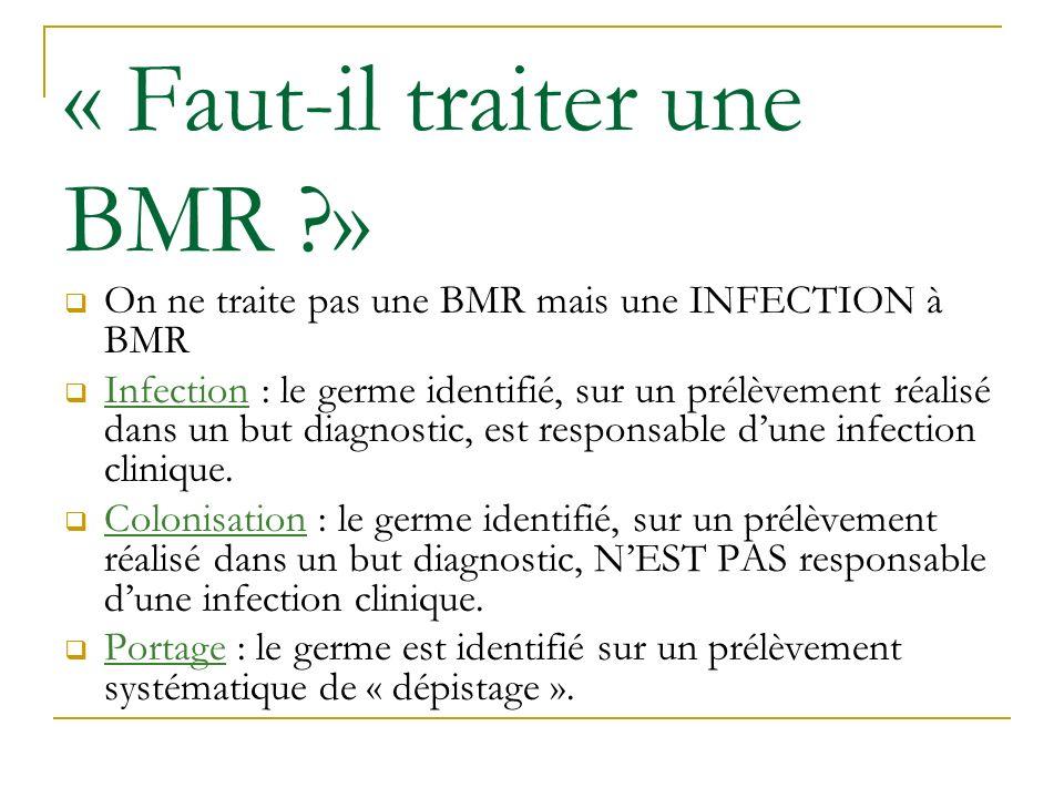 « Faut-il traiter une BMR »