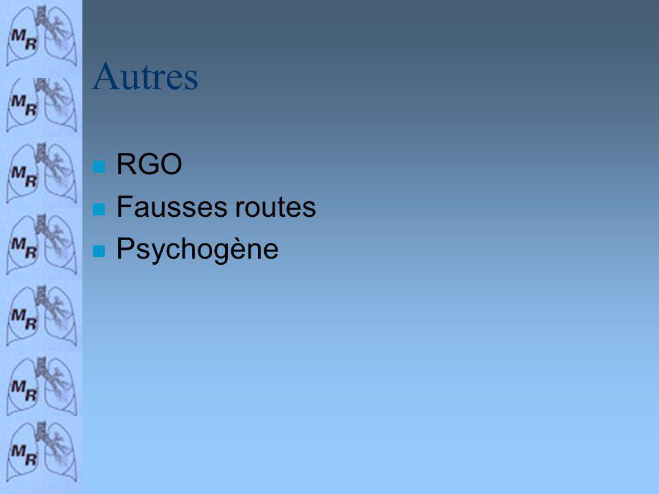 Autres RGO Fausses routes Psychogène