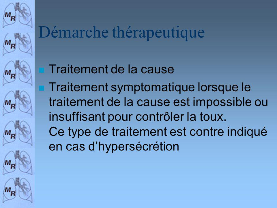 Démarche thérapeutique