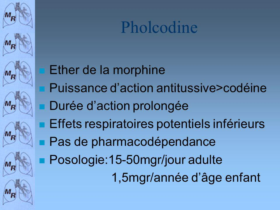 Pholcodine Ether de la morphine