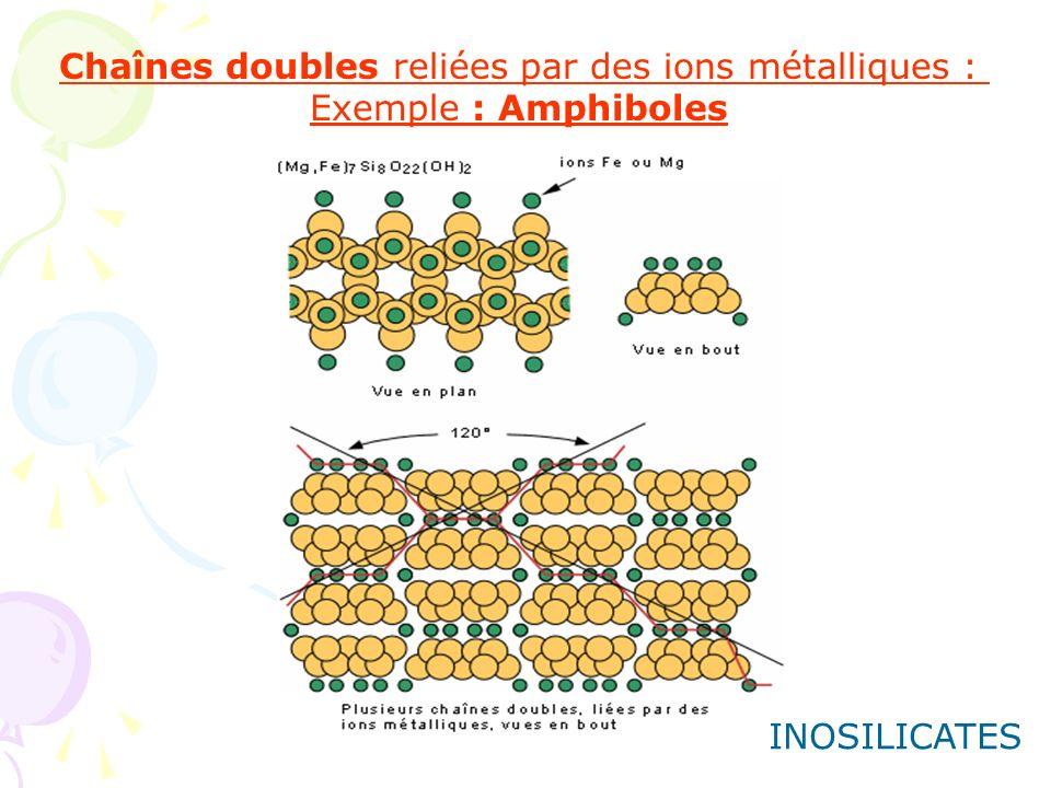 Chaînes doubles reliées par des ions métalliques :
