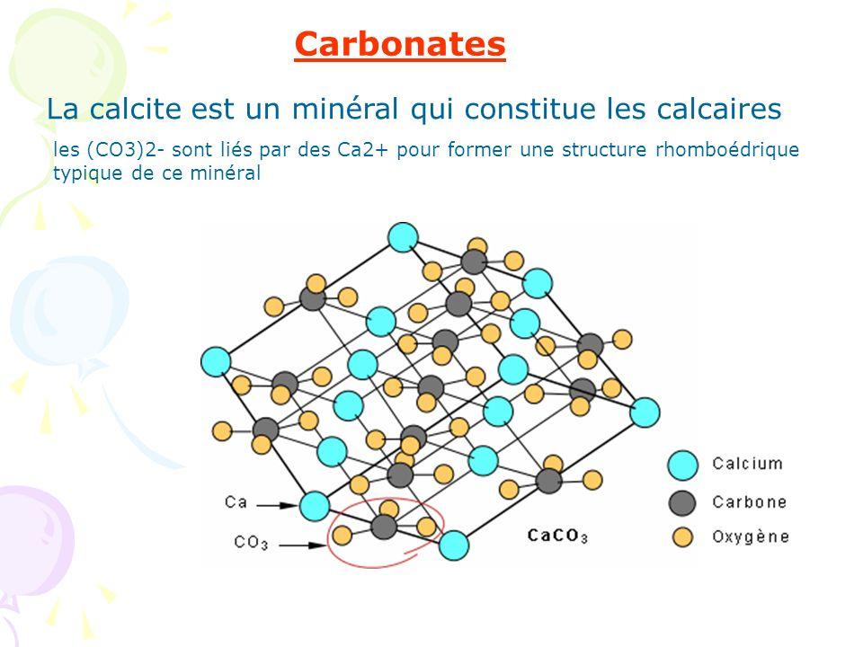La calcite est un minéral qui constitue les calcaires