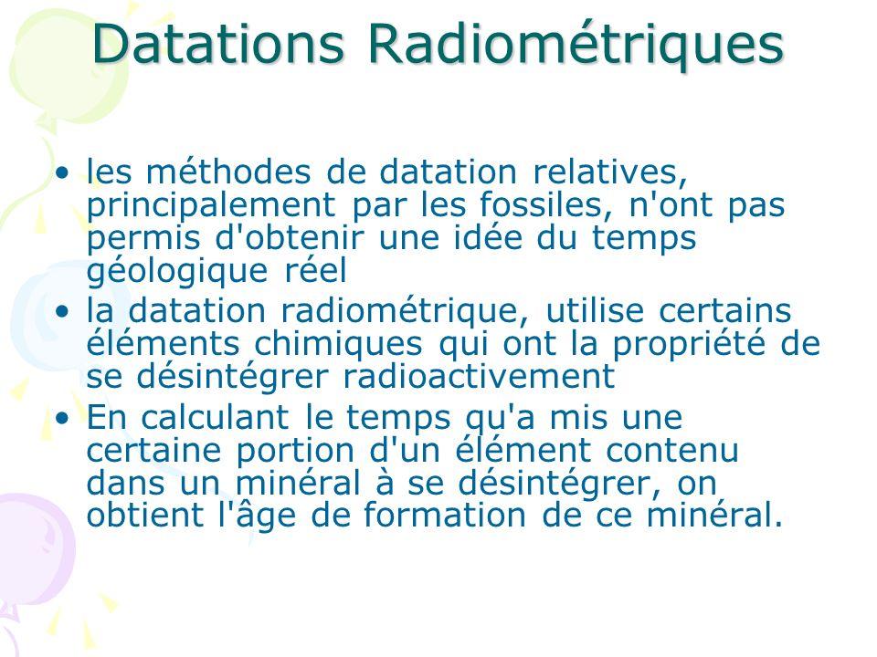 Datations Radiométriques