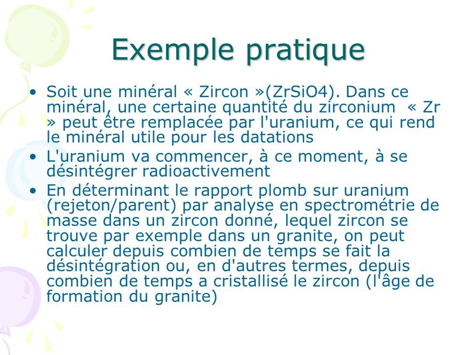 Exemple pratique