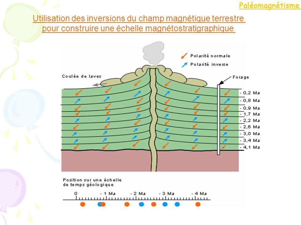 Utilisation des inversions du champ magnétique terrestre