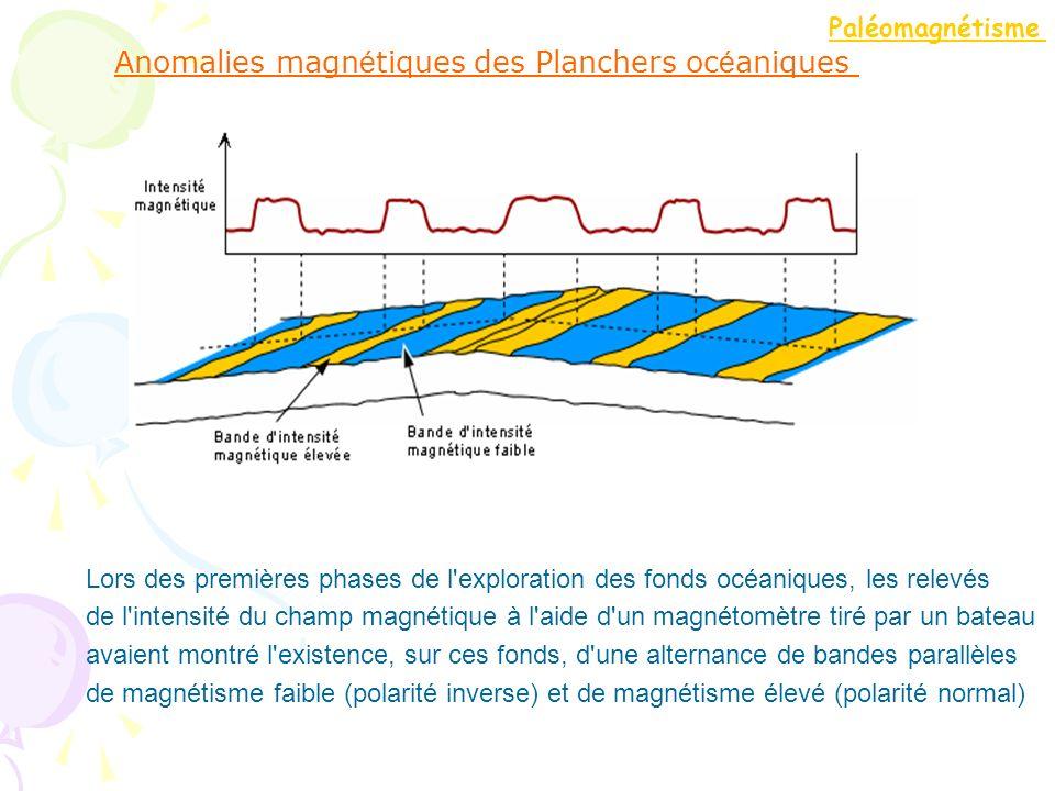 Anomalies magnétiques des Planchers océaniques