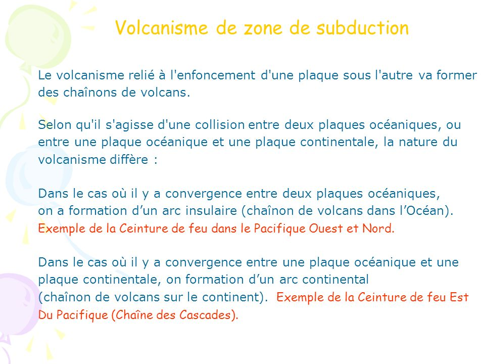 Volcanisme de zone de subduction