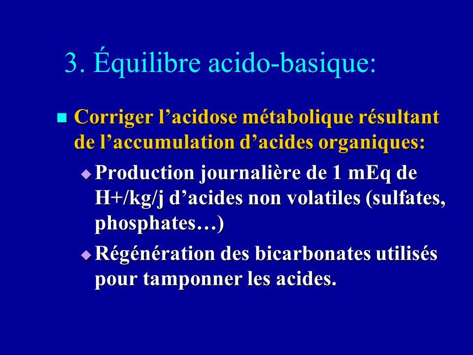 3. Équilibre acido-basique:
