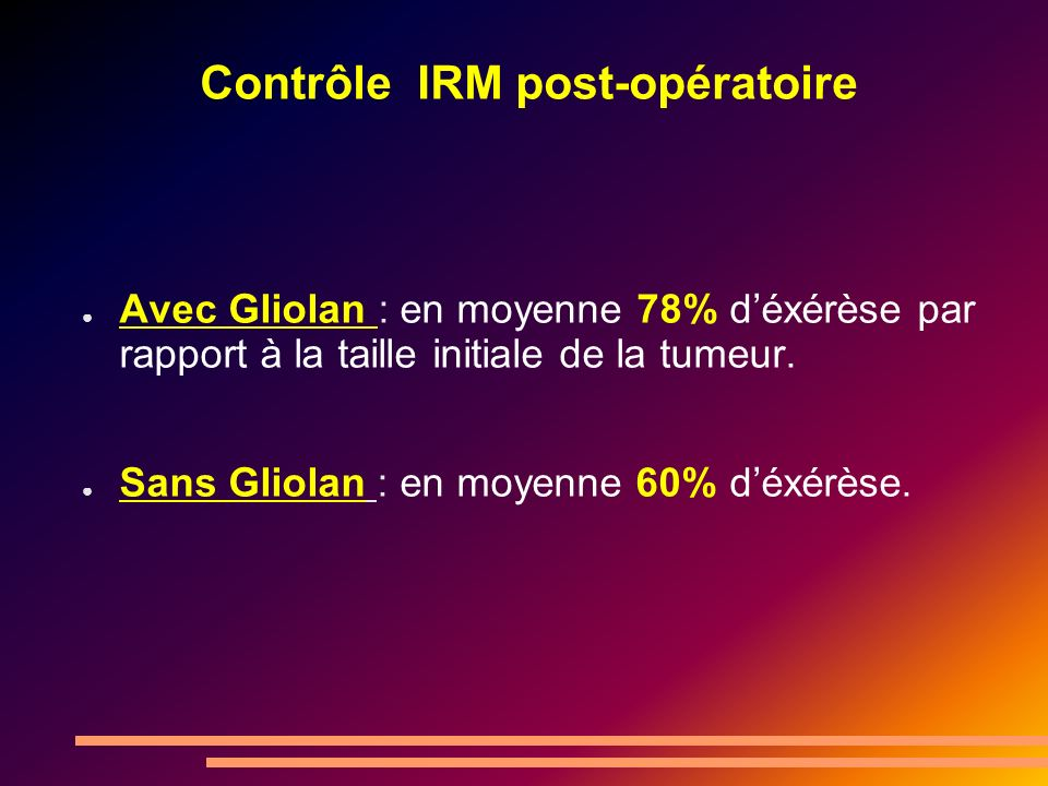 Contrôle IRM post-opératoire