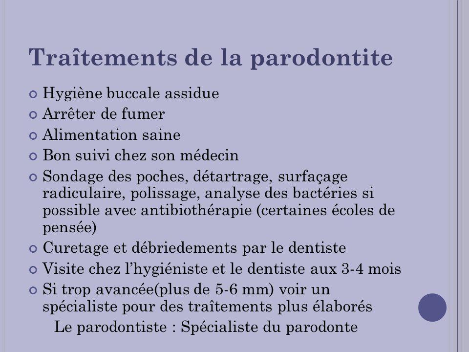 Traîtements de la parodontite