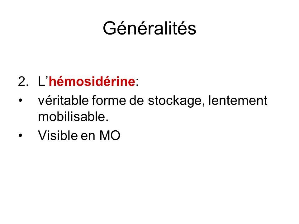 Généralités L'hémosidérine: