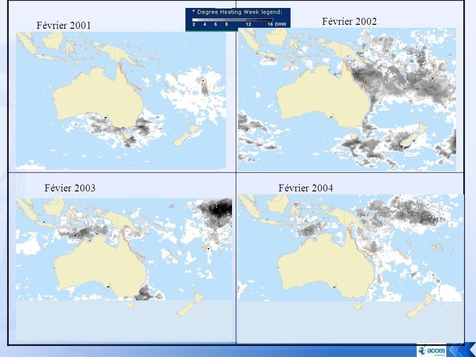 Février 2002 Février 2001 Févier 2003 Février 2004
