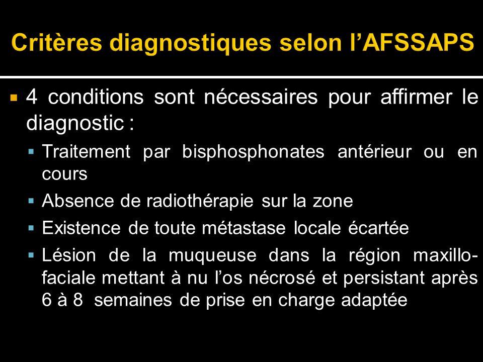 Critères diagnostiques selon l'AFSSAPS