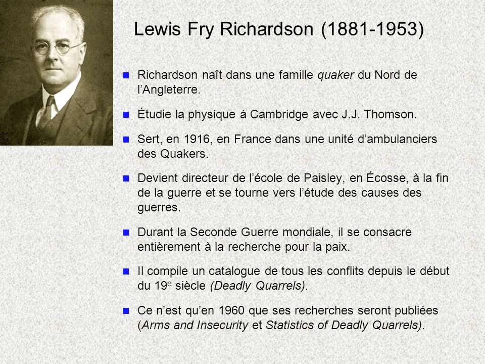 Lewis Fry Richardson (1881-1953)