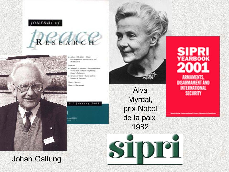 Alva Myrdal, prix Nobel de la paix, 1982