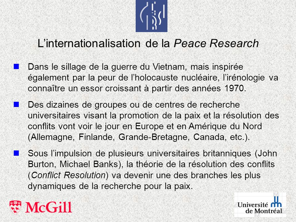 L'internationalisation de la Peace Research