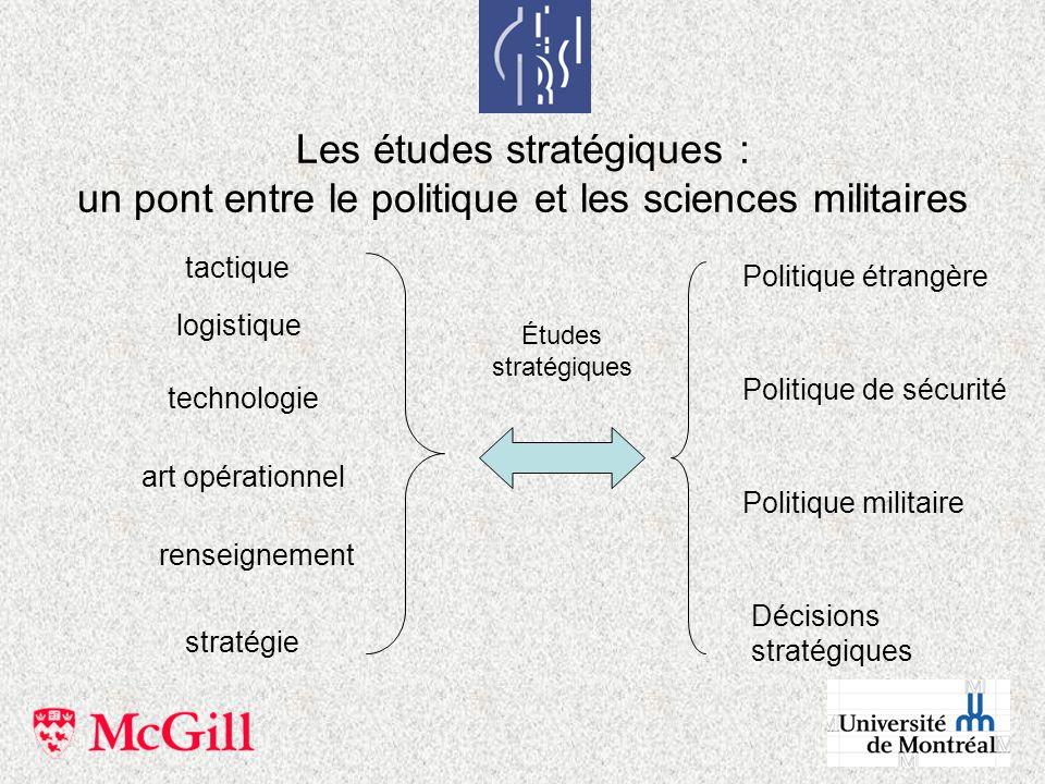 Les études stratégiques : un pont entre le politique et les sciences militaires