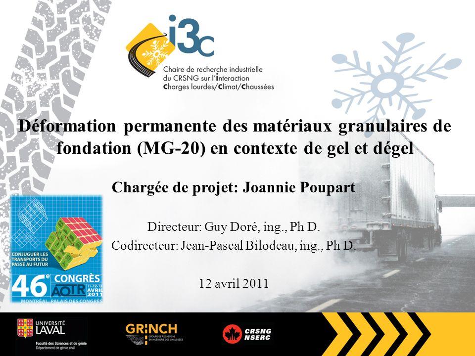Chargée de projet: Joannie Poupart